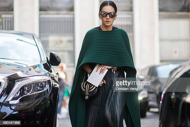 Tina Leung during Milan Fashion Week Spring/Summer 16 on September 27 2015 in Milan Italy