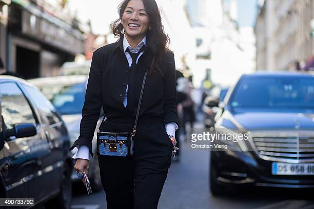 Tina Leung during Paris Fashion Week Womenswear Spring/Summer 2016 on September 30 2015 in Paris France