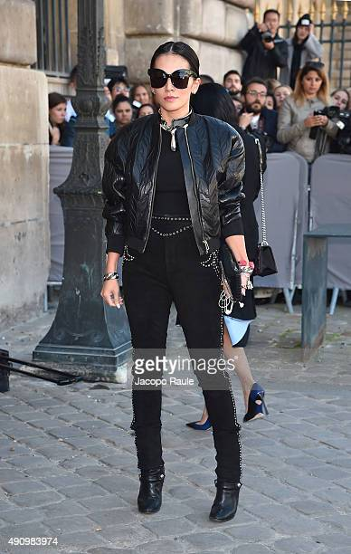 Tina Leung is arriving at Dior Fashion Show during the Paris Fashion Week S/S 2016 Day 4 on October 2 2015 in Paris France