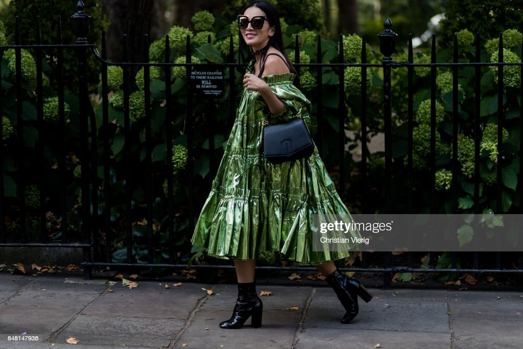 Tina Leung outside Simone Rocha during London Fashion Week September 2017 on September 16, 2017 in London, England.