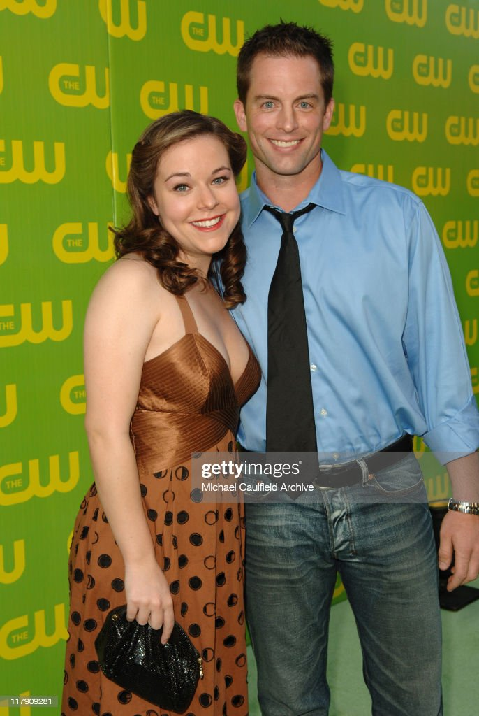 Tina Majorino and Michael Muhney during The CW Launch Party Green Carpet at WB Main Lot in Burbank California United States