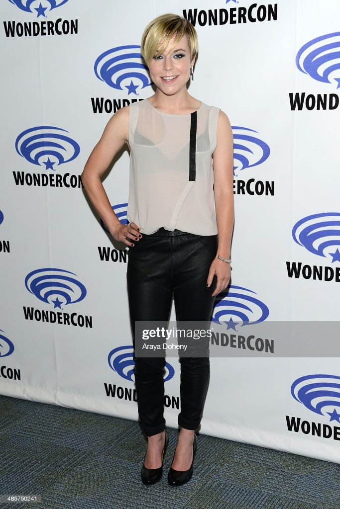 <a gi-track='captionPersonalityLinkClicked' href=/galleries/search?phrase=Tina+Majorino&family=editorial&specificpeople=234751 ng-click='$event.stopPropagation()'>Tina Majorino</a> attends the Legends paress line at WonderCon Anaheim 2014 Day 2 at Anaheim Convention Center on April 19, 2014 in Anaheim, California.