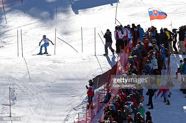 Tina Maze of Slovenia skis the course during the 2015 World Alpine Ski Championships women's slalom February 14 2015 in Beaver Creek Colorado AFP...