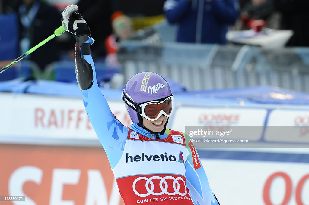 <a gi-track='captionPersonalityLinkClicked' href=/galleries/search?phrase=Tina+Maze&family=editorial&specificpeople=213514 ng-click='$event.stopPropagation()'>Tina Maze</a> of Slovenia wins the Overall World Cup during the Audi FIS Alpine Ski World Cup Finals March 17, 2013 in Lenzerheide, Switzerland.