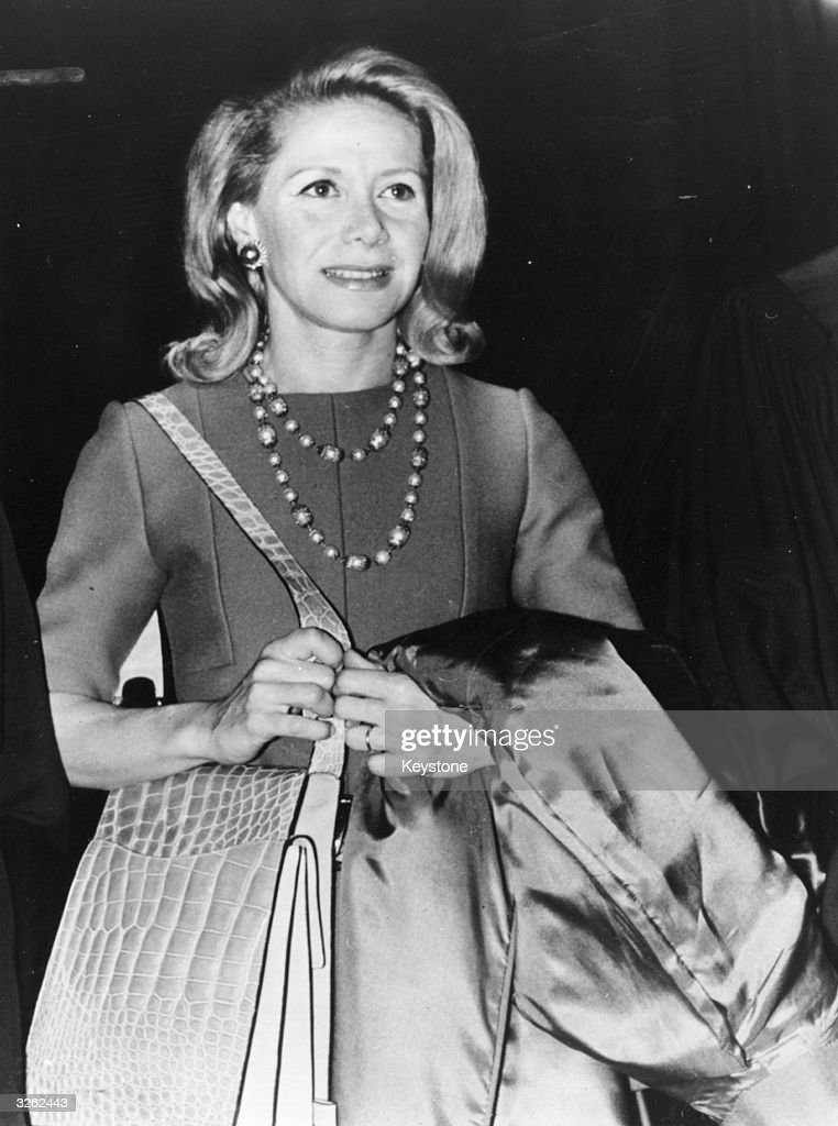 Tina Niarchos (1929-1974), wife of Greek shipping magnate Stavros Niarchos and former wife of the Duke of Marlborough.