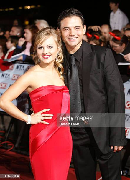 Tina O'brien and Ryan Thomas during 12th Anniversary National Television Awards Arrivals at Royal Albert Hall in London Great Britain