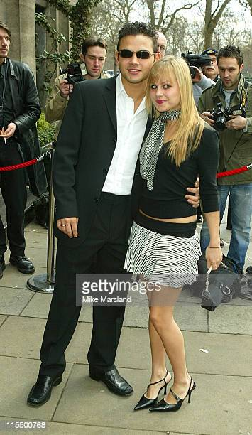 Tina O'Brien and Ryan Thomas during The Television and Radio Industry's Club Awards 2004 at Le Meridien Grosvenor House in London United Kingdom