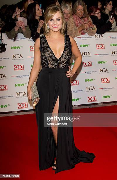 Tina O'Brien attends the 21st National Television Awards at The O2 Arena on January 20 2016 in London England