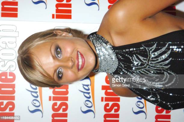 Tina O'Brien during 2004 Inside Soap Awards Press Room at La Rascasse Cafe Grand Prix in London Great Britain