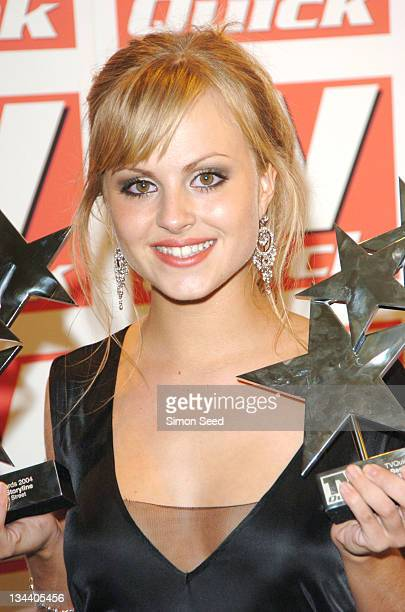 Tina O'Brien during 2004 TV Quick Soap Awards Press Room at Dorchester Hotel in London Great Britain