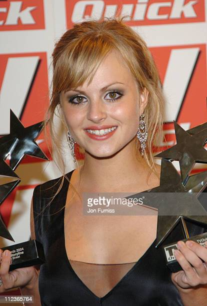 Tina O'Brien during 2004 TV Quick Soap Awards Pressroom at Dorchester Hotel in London Great Britain