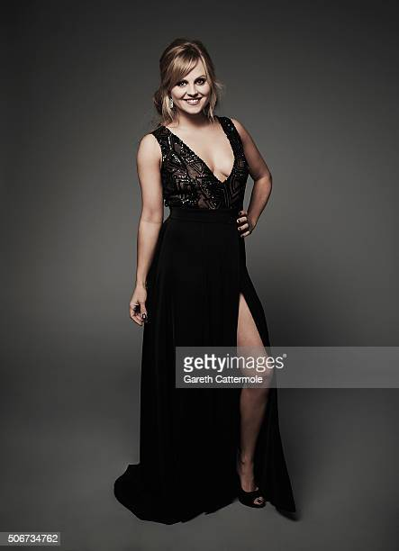 Tina O'Brien poses in the Portrait Studio during the 21st National Television Awards at The O2 Arena on January 20 2016 in London England