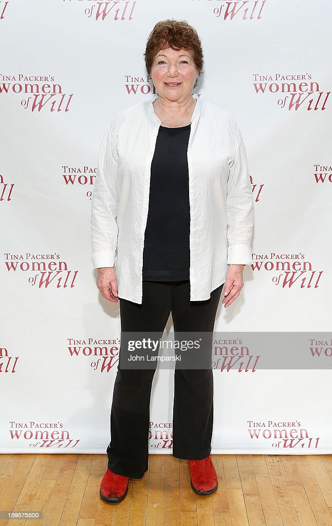 Tina Packer attends Tina Packer's 'Women of Will' cast photo call at The Gym at Judson on January 16, 2013 in New York City.