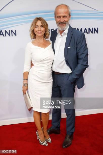 Tina Ruland and Claus G Oeldorp attend the 'Bertelsmann Summer Party' at Bertelsmann Repraesentanz on June 22 2017 in Berlin Germany