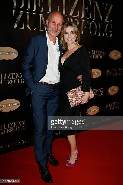 Tina Ruland and Claus G Oeldorp attend the Hairfree Hosts 'Die Lizenz zum Erfolg' Event on November 19 2015 in Berlin Germany