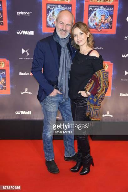 Tina Ruland and her boyfriend Claus G Oeldorp attend the premiere of the children's show 'Spiel mit der Zeit' at Friedrichstadtpalast on November 19...