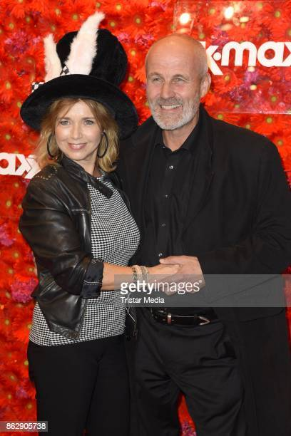 Tina Ruland and her boyfriend Claus G Oeldorp attend the TK Maxx 10th anniversary celebration on October 18 2017 in Berlin Germany
