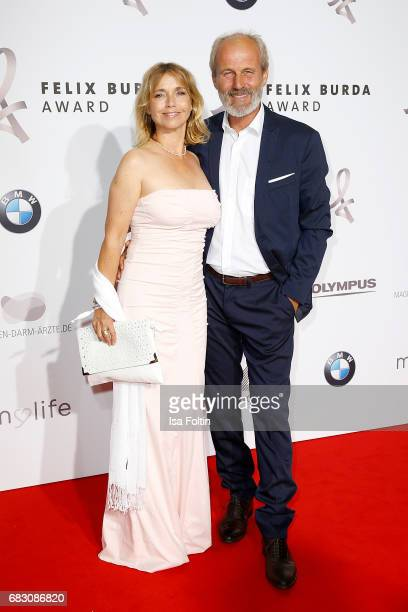 Tina Ruland and her husband Claus Oldoerp attend the Felix Burda Award at Hotel Adlon on May 14 2017 in Berlin Germany