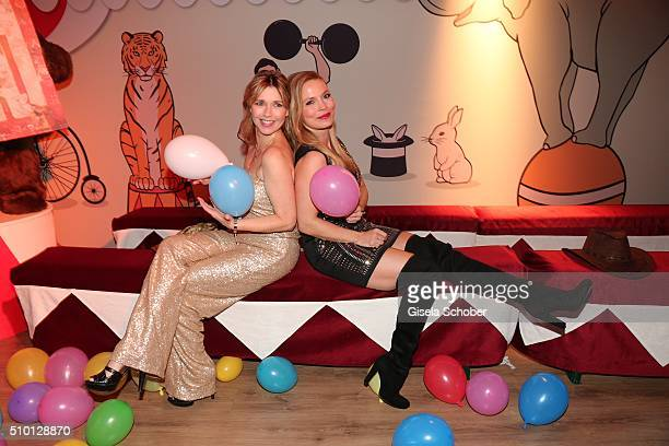 Tina Ruland and Regine Halmich during the Bild 'Place to B' Party at Borchardt during the 66th Berlinale International Film Festival Berlin on...