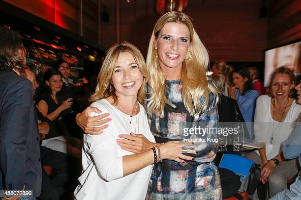 Tina Ruland and Tanja Buelter attend the Promi Shopping Queen with Tanja Buelter and Leonie Bechthold on September 13 2015 in Berlin Germany