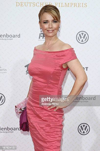 Tina Ruland arrives for the Lola German Film Award 2013 at FriedrichstadtPalast on April 26 2013 in Berlin Germany