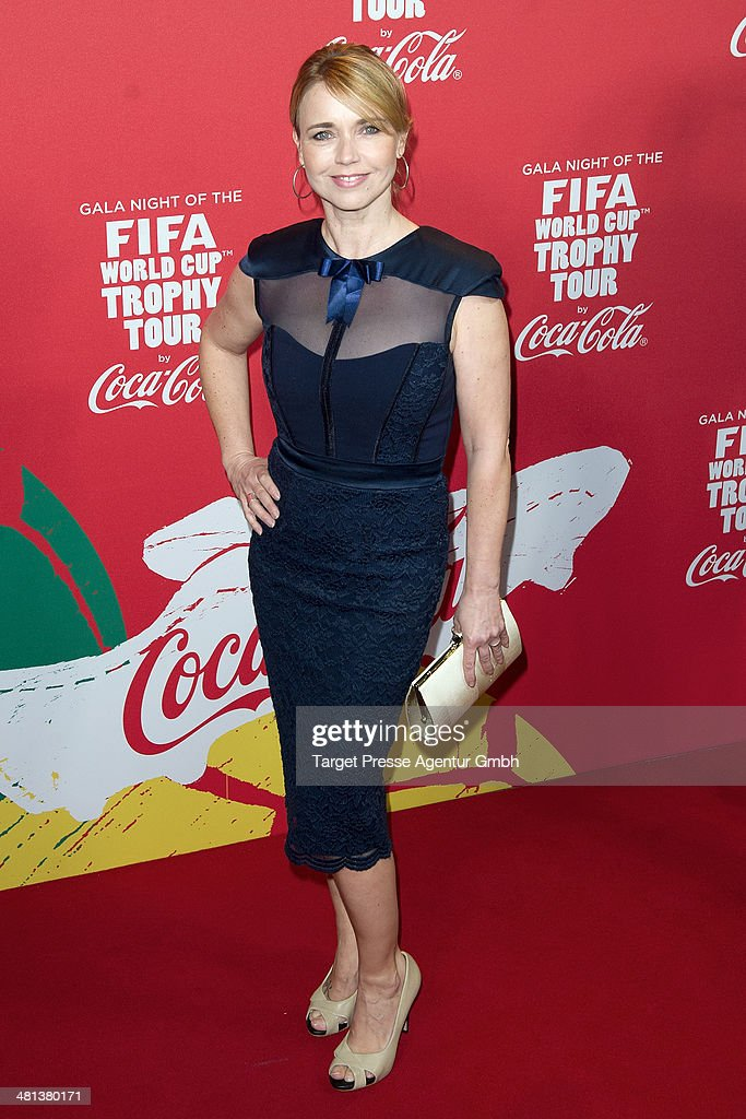 Tina Ruland attends the Gala Night of the FIFA World Cup trophy Tour on March 29, 2014 in Berlin, Germany.