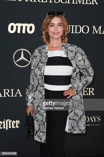 Tina Ruland attends the Guido Maria Kretschmer Fashion Show Autumn/Winter 2017 at Tempodrom on July 5 2017 in Berlin Germany