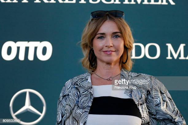Tina Ruland attends the Guido Maria Kretschmer Fashion Show Autumn/Winter 2017 presented by OTTO at Tempodrom on July 5 2017 in Berlin Germany