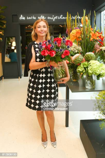 Tina Ruland attends the 'Kians Garden Flower Shop' Opening Event at Kantstrasse on July 11 2017 in Berlin Germany