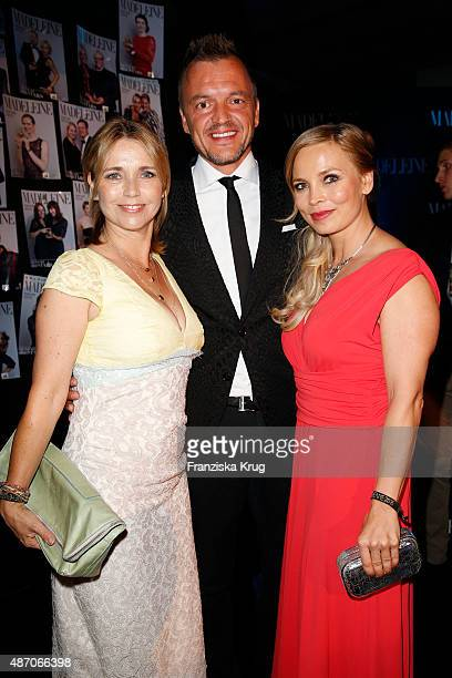 Tina Ruland Volker Valk and Regina Halmich attend Madeleine At Goldene Henne 2015 on September 05 2015 in Berlin Germany