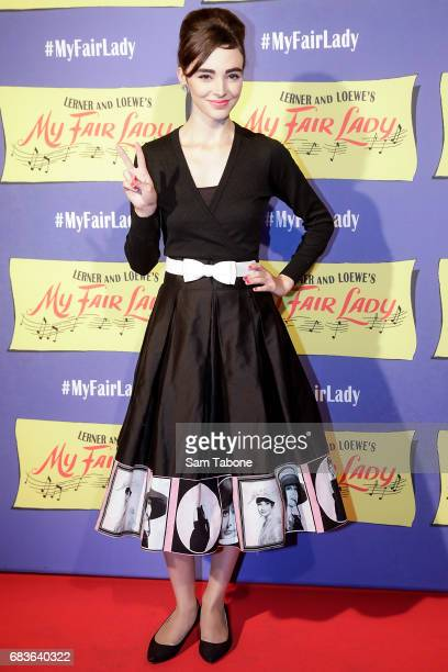 Tina Sethi arrives ahead of opening night of My Fair Lady at Regent Theatre on May 16 2017 in Melbourne Australia