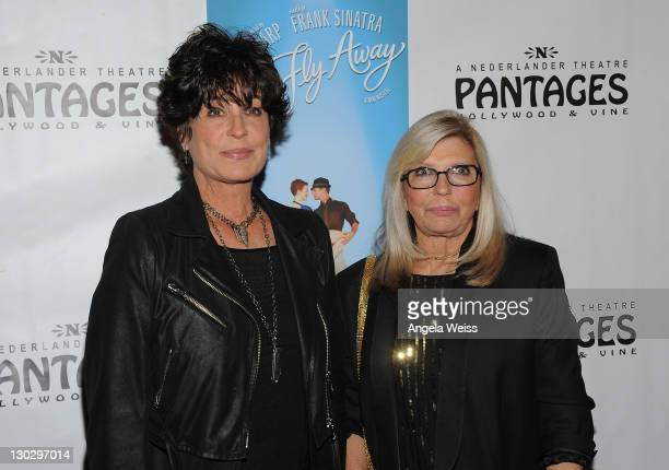 Tina Sinatra and Nancy Sinatra arrive at LA's Premiere of Twyla TharpFrank Sinatra Musical 'Come Fly Away' at the Pantages Theatre on October 25 2011...