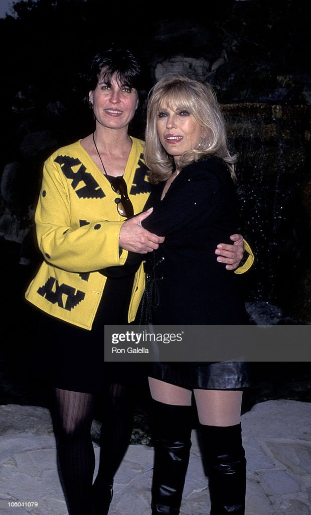 Tina Sinatra and Nancy Sinatra during Playboy Magazine Party for Nancy Sinatra Jr. at Playboy Manshion in Hollywood Hills, California, United States.