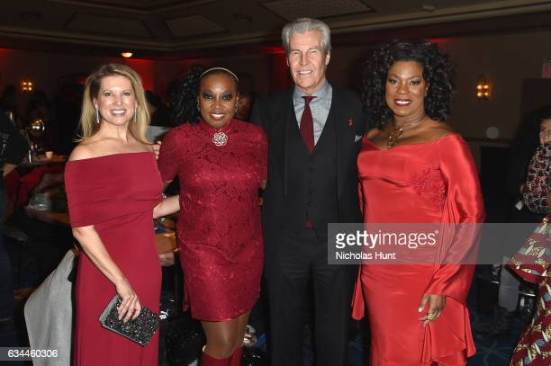 Tina Stephan Star Jones Macy's Inc Chairman and CEO Terry J Lundgrenand Actress Lorraine Toussaint attend the American Heart Association's Go Red For...