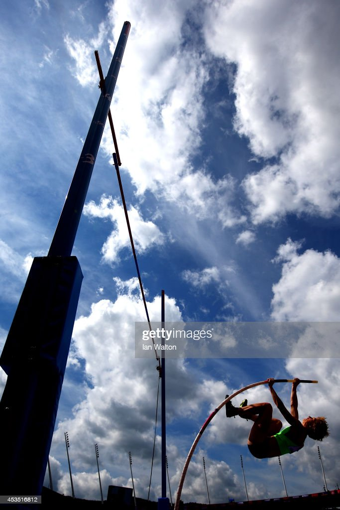 Tina Sutej of Slovenia competes in the Women's Pole Vault qualification during day one of the 22nd European Athletics Championships at Stadium Letzigrund on August 12, 2014 in Zurich, Switzerland.