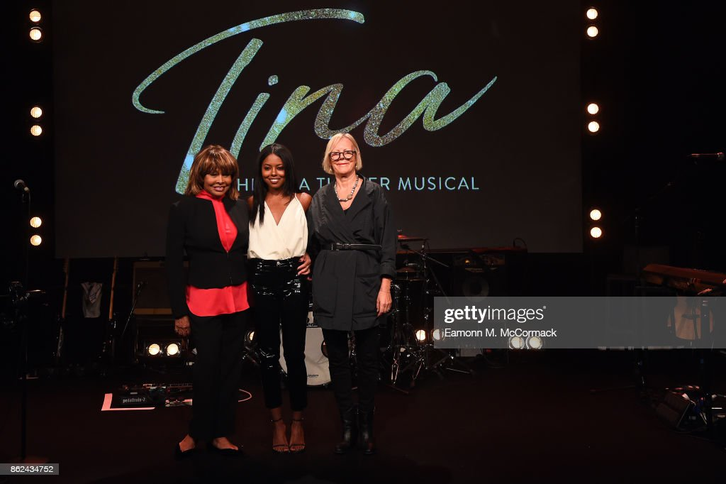 Tina Turner, Adrienne Warren and Phyllida Lloyd during the 'TINA: The Tina Turner Musical' photocall at Aldwych Theatre on October 17, 2017 in London, England.