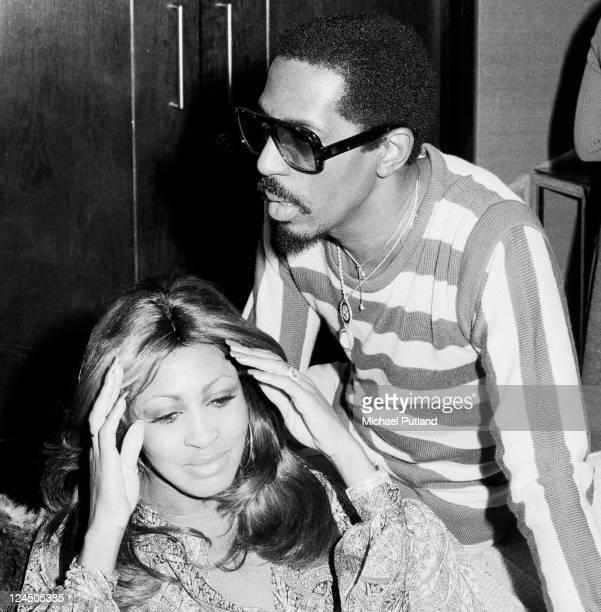 Tina Turner and Ike Turner portrait London October 1975