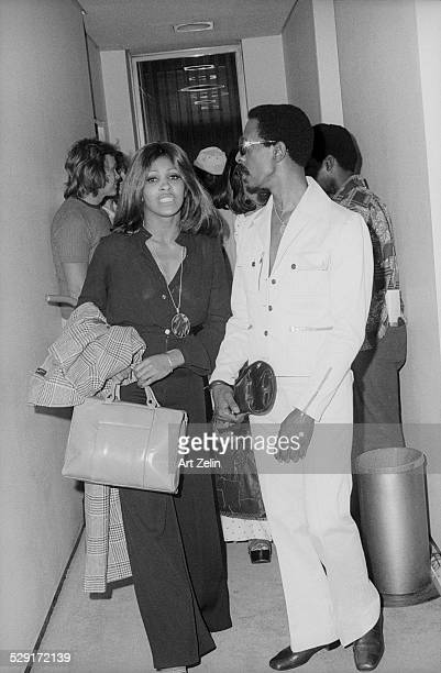 Tina Turner backstage at the Apollo theater with Ike Turner circa 1970 New York