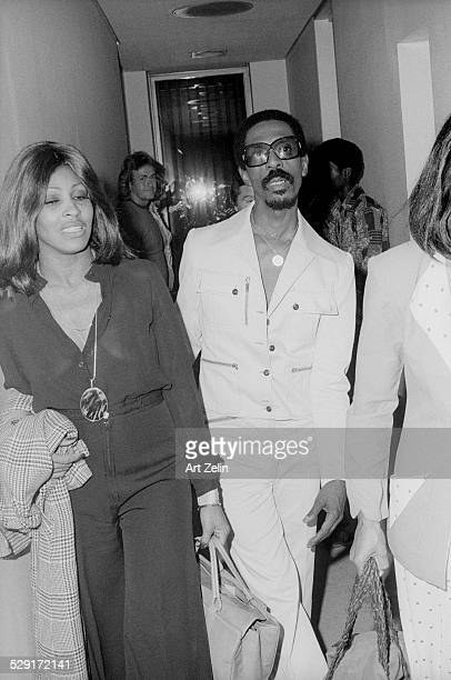 Tina Turner backstage at the Apollo with Ike Turner circa 1970 New York
