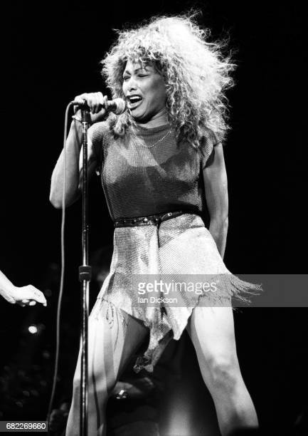 Tina Turner performing on stage at NEC Arena Birmingham United Kingdom 24 October 1990