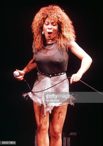 Tina Turner performing on stage London United Kingdom 1990