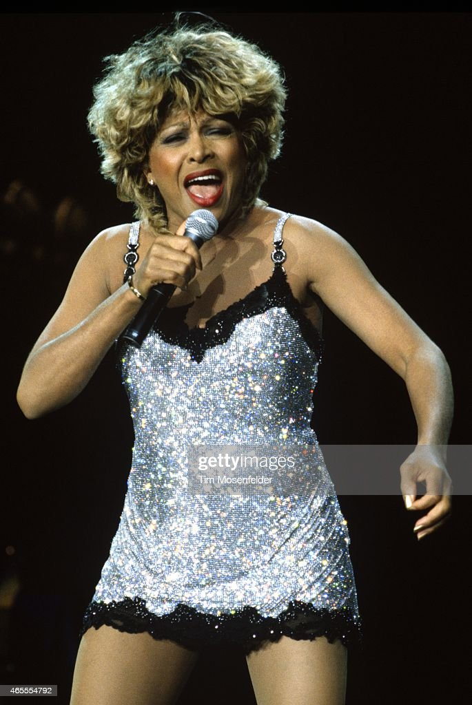 Tina Turner performs at Shoreline Amphitheatre on May 23, 1997 in ...
