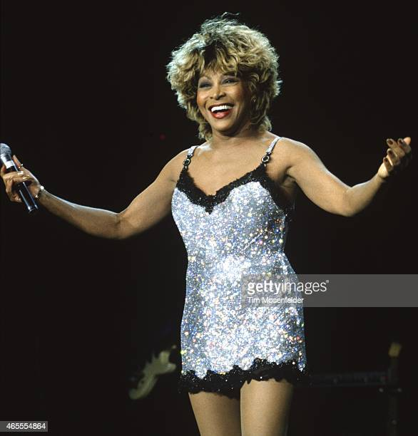 Tina Turner performs at Shoreline Amphitheatre on May 23 1997 in Mountain View California