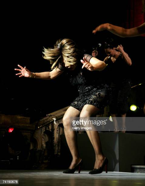 Tina Turner performs at The Bedrock Ball at the Natural History Museum to launch the new national children's charity 'Caudwell Children' on May 18...