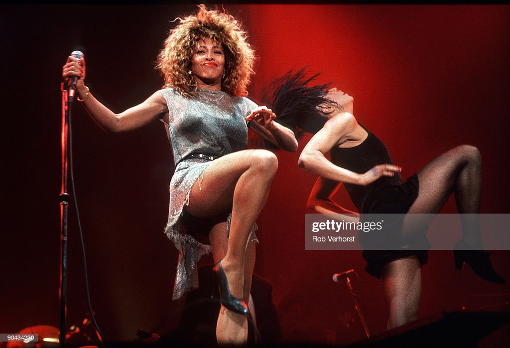Tina Turner performs live on stage at Ahoy, Rotterdam on November 04 1990