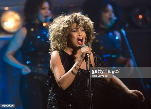 Tina Turner performs on stage at the Gelredome on March 21st 2009 in Arnhem Netherlands