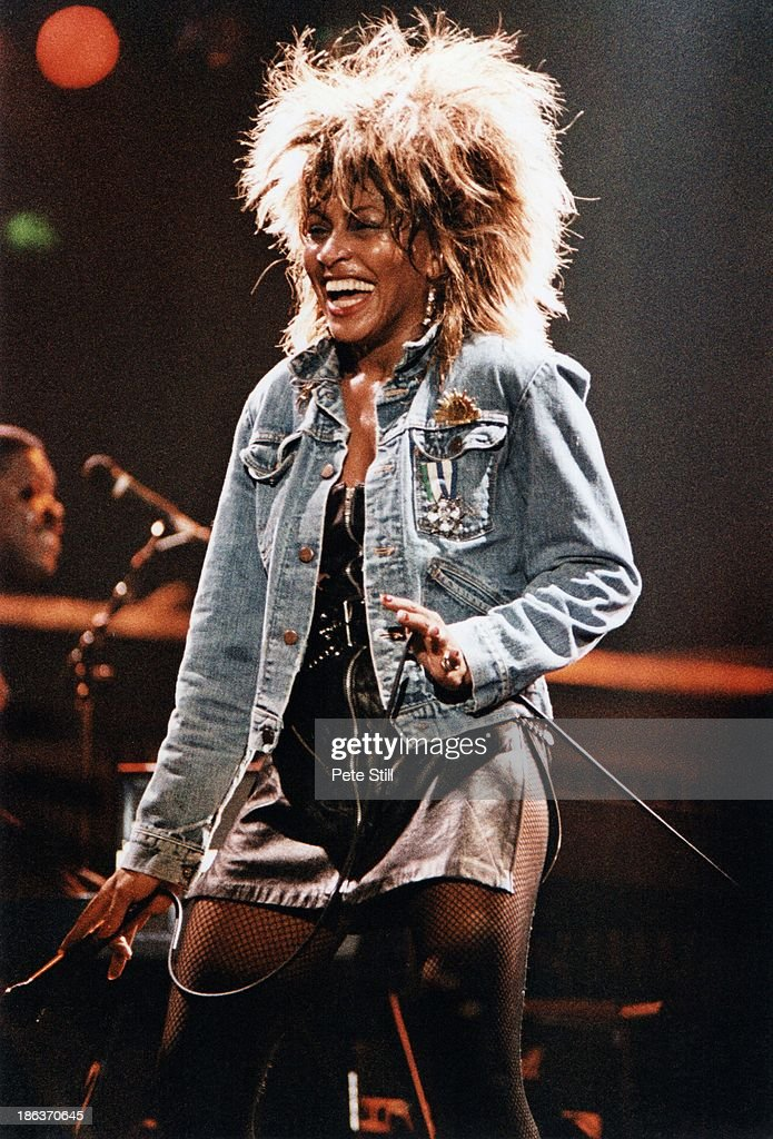 Tina Turner performs on stage at Wembley Arena during her 'Private Dancer' tour on March 14th 1985 in London England