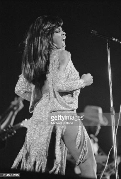 Tina Turner performs on stage with Ike And Tina Turner London 27th November 1973