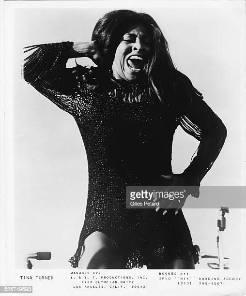 Tina Turner portrait dancing USA 1970