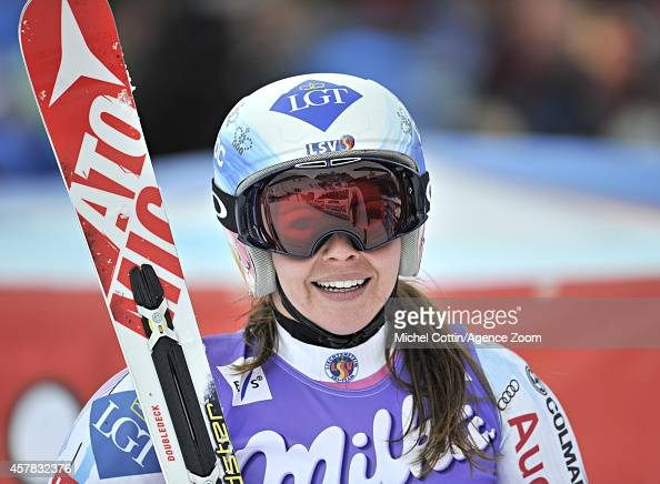 Tina Weirather of Liechtenstein competes during the Audi FIS Alpine Ski World Cup WomenÕs Giant Slalom on October 25 2014 in Soelden Austria